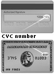 a typical credit card with CVC
