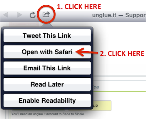 how to open in safari